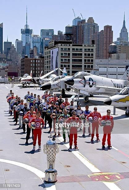 Indianapolis 500 Starting line up during 2006 Indianapolis 500 Starting Lineup Visits NYC at Intrepid Sea Air & Space Museum in New York, New York,...
