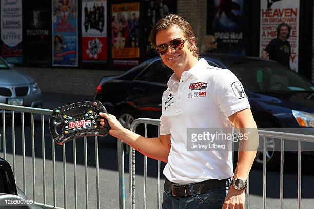 Indianapolis 500 Winner Dan Wheldon arrives at Late Show With David Letterman at the Ed Sullivan Theater on June 6 2011 in New York City