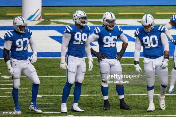 Indianapolis Colts Defensive End Al-Quadin Muhammad , Indianapolis Colts Defensive Tackle DeForest Buckner , Indianapolis Colts Defensive End Denico...