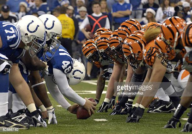 Indianapolis Colts extra point team lines up against the Cincinnati Bengals Dec 18 2006 in the RCA Dome in Indianapolis The Colts won 34 16 on ESPN...