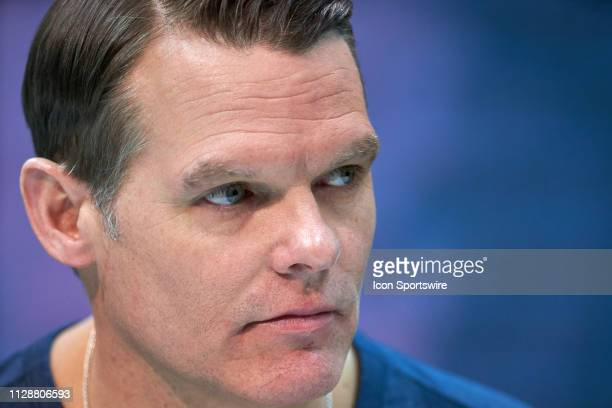 Indianapolis Colts general manager Chris Ballard during the NFL Scouting Combine on February 27 2019 at the Indiana Convention Center in Indianapolis...