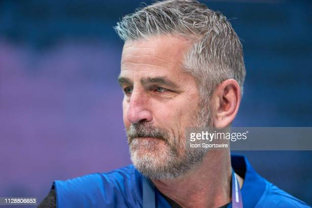 Indianapolis Colts head coach Frank Reich during the NFL Scouting Combine on February 27 2019 at the Indiana Convention Center in Indianapolis IN