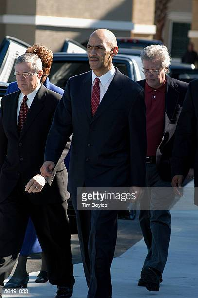 Indianapolis Colts head coach Tony Dungy leaves the funeral for his son James Dungy December 27 2005 in Tampa Florida Officials say James Dungy...