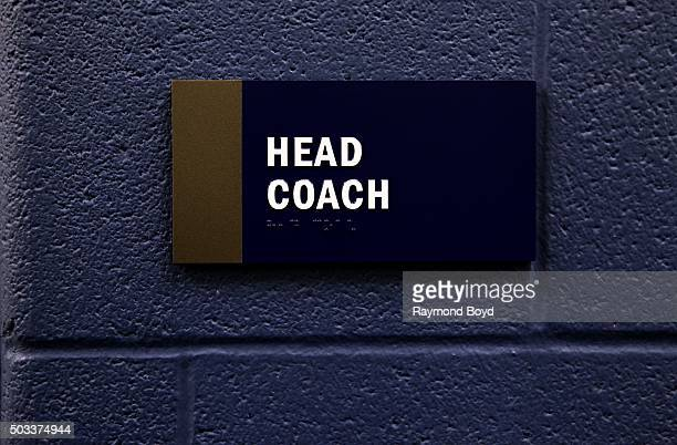 Indianapolis Colts head coach's office at Lucas Oil Stadium, home of the Indianapolis Colts football team on December 22, 2015 in Indianapolis,...