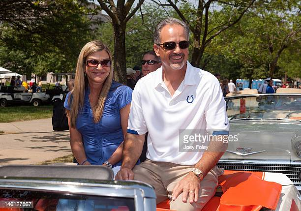 Indianapolis Colts new head coach Chuck Pagano attends the IPL 500 Festival Parade at on May 26 2012 in Indianapolis Indiana