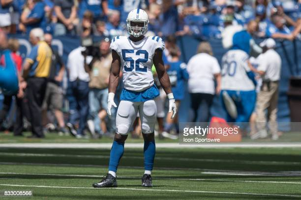 b9942a2de Indianapolis Colts outside linebacker Barkevious Mingo during the NFL  preseason game between the Detroit Lions and