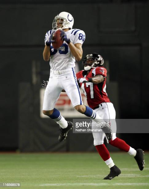 Indianapolis Colts Wide Receiver Aaron Moorehead in action againt the Atlanta Falcons at the 2005 American Bowl August 6 at the Tokyo Dome in Japan....