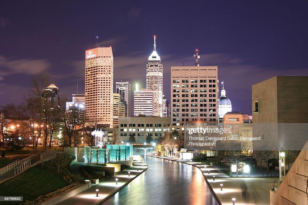 Indianapolis, Indiana Skyline at Night : Stock Photo