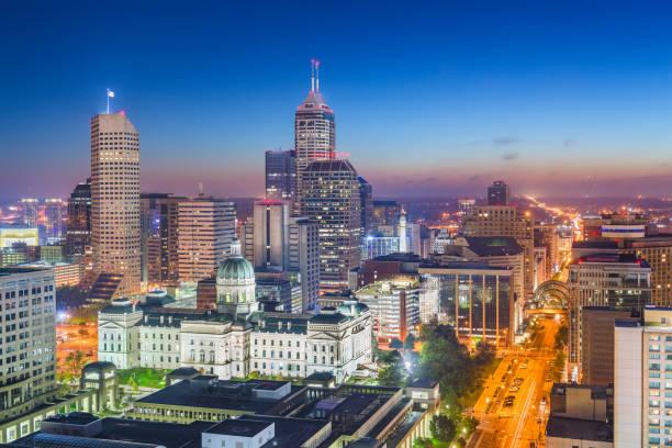Indianapolis Indiana Usa Downtown Skyline - Fine Art prints