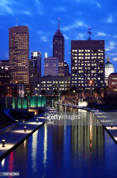 Indianapolis, Indiana with city lights