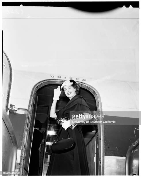 Indianapolis Queen 25 May 1952 Arlene Dahl Supplementary material reads 'News Bureau United Air Lines Bert Moore MAdison 68060 Indianapolis Queen...