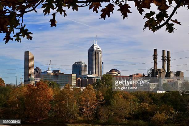 Indianapolis skyline in the autumn season