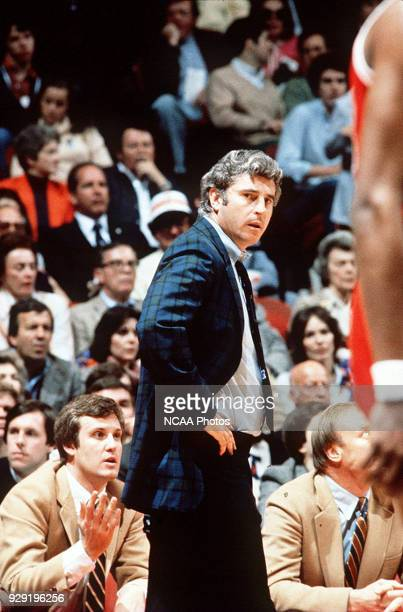Indiana's coach Bob Knight during the NCAA Photos via Getty Images National Basketball Championship in Philadelphia's Spectrum Indiana defeated North...