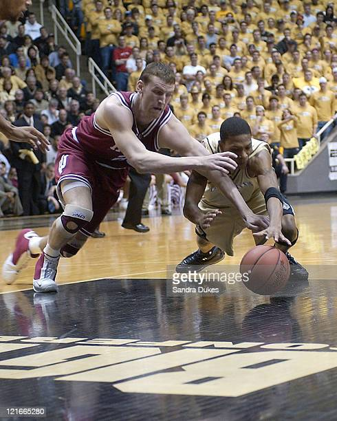 Indiana's Sean Kline drives against Purdue at the Mackey Arena in West Lafayette Indiana Februrary 14 2004 Purdue won 7156