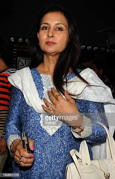 IndianBollywood actress Poonam Dhillon attends a prayer function in memory of late veteran Bollywood actor AKHangal organised by the Indian People's...