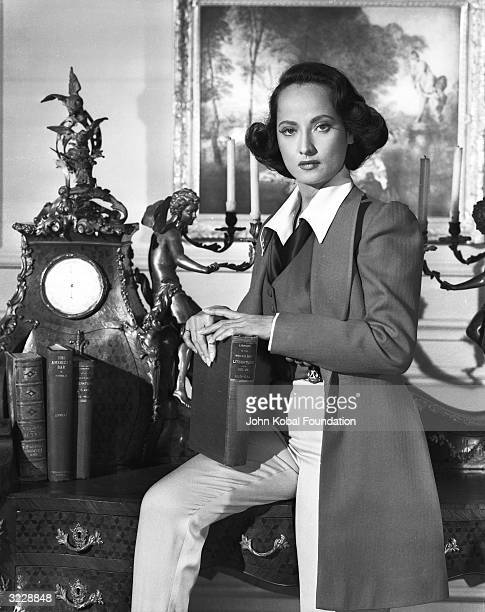 Indianborn actress Merle Oberon stars as French novelist George Sand in Charles Vidor's 'A Song to Remember' a biopic of Polish composer Frederic...