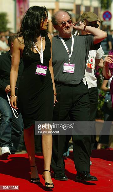 Indianborn author Salman Rushdie and wife model Padma Lakshmi attend the World Premiere of 'La Nina Santa' directed by Lucrecia Martel at Le Palais...