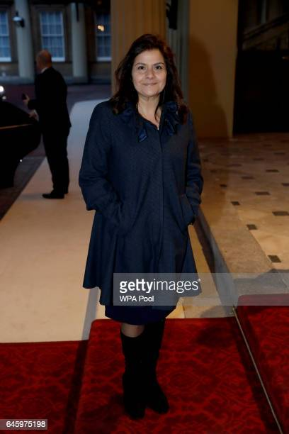 Indianborn British actress Nina Wadia attends a reception this evening to mark the launch of the UKIndia Year of Culture 2017 on February 27 2017 in...