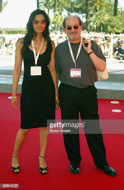 Indianborn writer Salman Rushdie and wife model Padma Lakshmi attend the World Premiere of 'La Nina Santa' directed by Lucrecia Martel at Le Palais...
