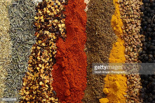 indian/pakistani spices - garam masala stock photos and pictures