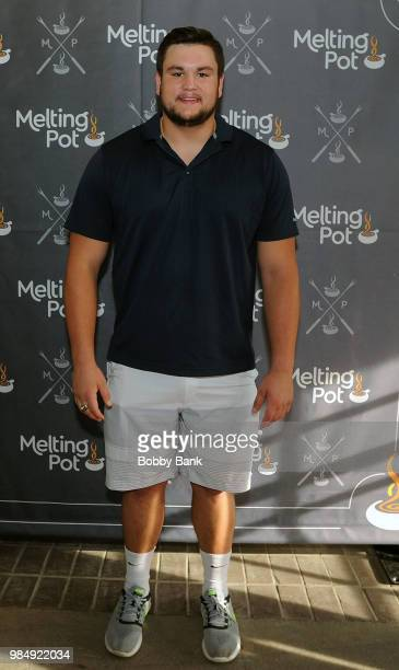 Indianpolis Colts offensive guard Quenton Nelson attends The Melting Pot of Red Bank Opening at Melting Pot on June 26 2018 in Red Bank New Jersey