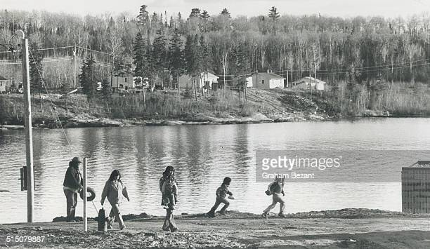 Indians Canada Tribes Ojibway Grassy Narrows Reserve Kenora