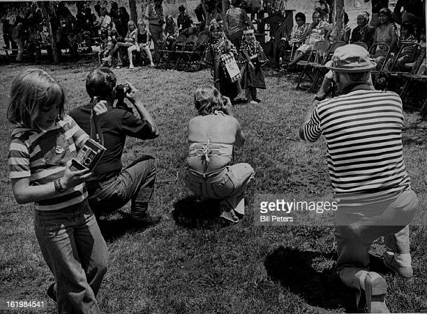 JUL 22 1977 JUL 23 1977 JUL 24 1977 Indians Colorado Some Of The 6000 Tourists On Reservation Take Pictures Of Peace Ceremony The treaty ended 200...