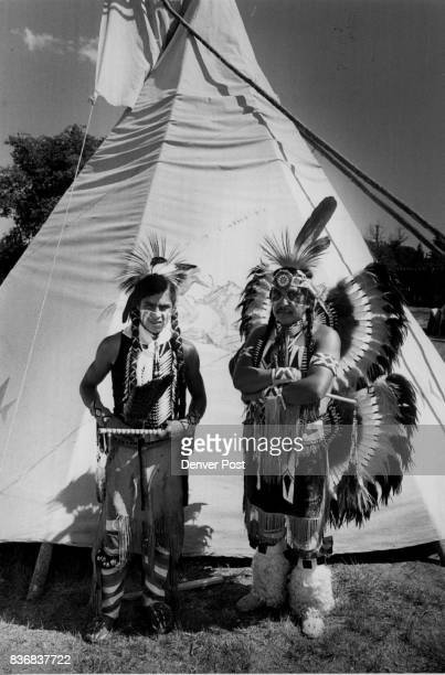 Indians Comanche Morgan Tosee Otto Mashetky Morgan Tosee left and Otto Mashetky at Frontier Days Credit The Denver Post