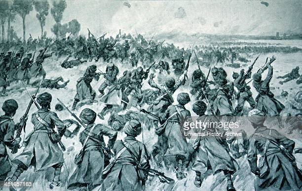Indians give lie to German calumnies A brilliant bayonet charge September 1914 this picture gives an eloquent illustration of their valour in one of...