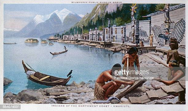 ' Indians of the northwest coast Kwakiutl Reconstruction of a village of this tribe which shows their daily life before the coming of the whites This...