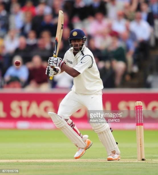 India's Abhinav Mukund in action against England
