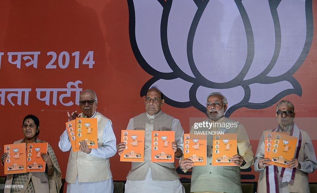INDIA-ELECTION-BJP-MANIFESTO : News Photo