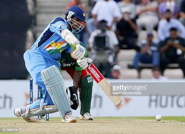 India's captain Sourav Ganguly in action during the match against Kenya in the ICC Champions Trophy match at the Rose Bowl in Southampton Saturday 11...