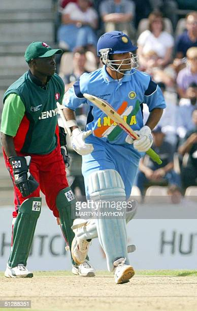 India's captain Sourav Ganguly sets out to run as he scores 50 in the match against Kenya in the ICC Champions Trophy match at the Rose Bowl in...