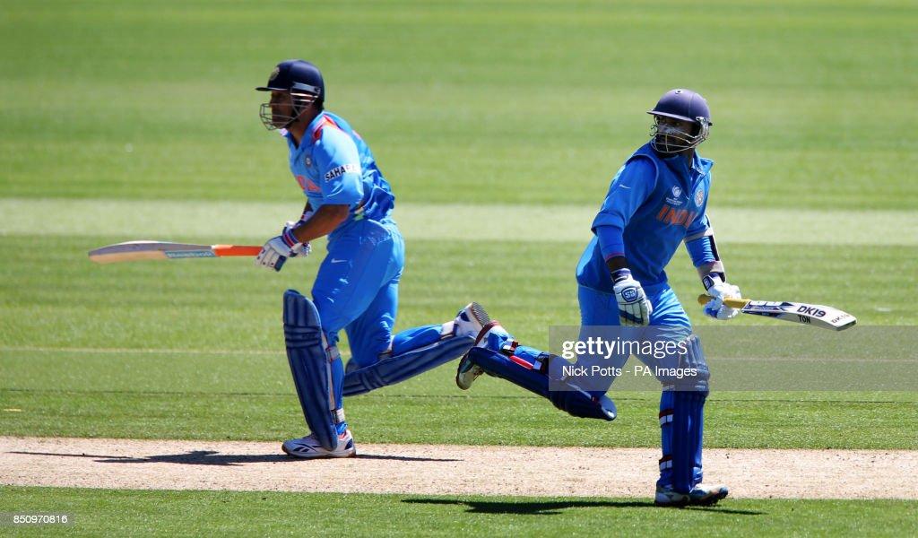 Cricket - ICC Champions Trophy - Warm Up Match - Australia v India - SWALEC Stadium : News Photo