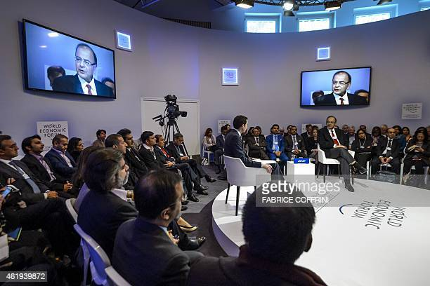 India's Finance Minister Arun Jaitley attends a session of the World Economic Forum annual meeting in Davos on January 22 2015 AFP PHOTO / FABRICE...
