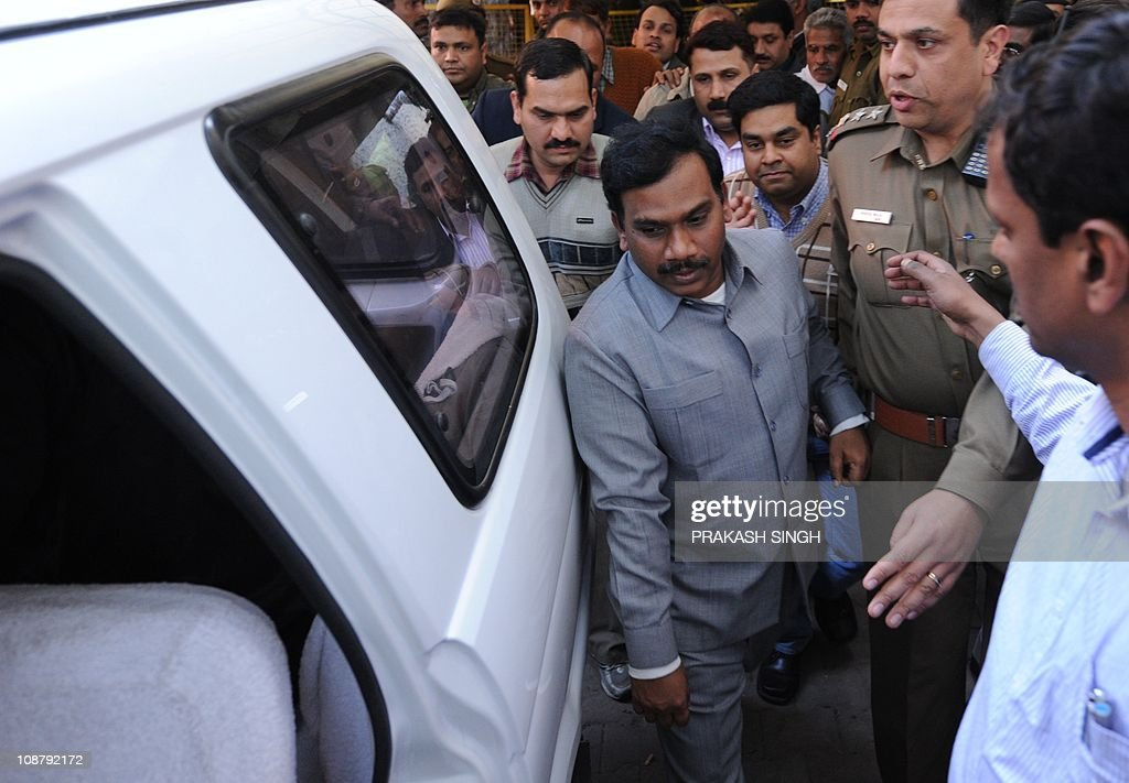 India S Former Telecom Minister A Raja Escorted By Central Bureau