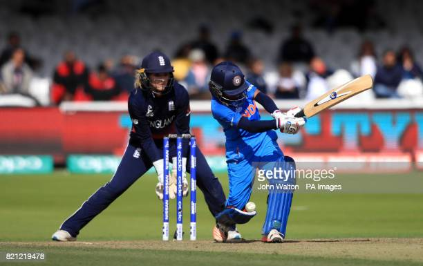 India's Harmanpreet Kaur during the ICC Women's World Cup Final at Lord's London