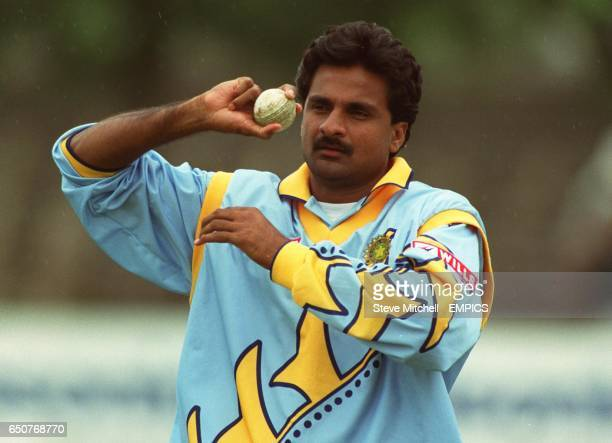 India's Javagal Srinath at Leicester
