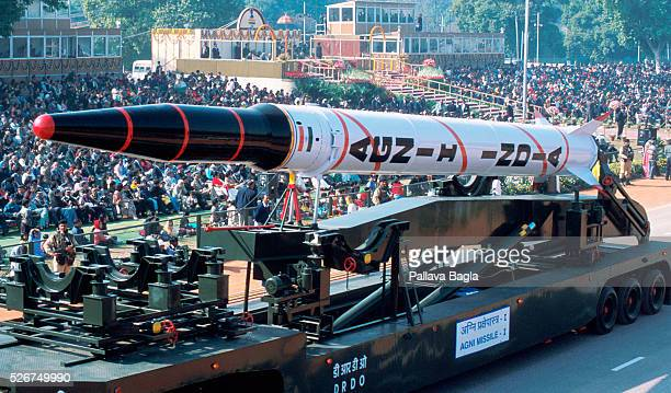 India's military might was on display during the celebration of Republic Day with a float carrying the nuclearcapable AGNI 1 missile Photo by Pallava...