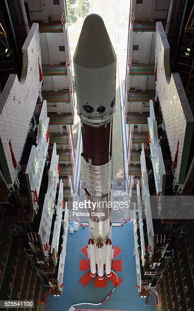 India's Moon rocket the Polar Satellite Launch Vehicle on its launch pad and ready to take India's maiden mooncraft to the lunar orbit The countdown...