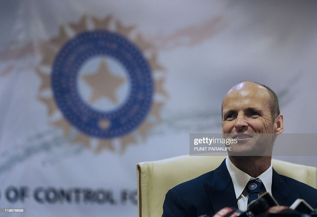 India's outgoing cricket coach Gary Kirs : News Photo