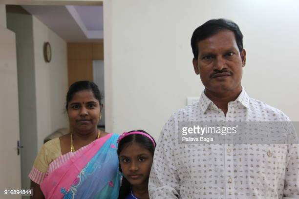 Indias PAD MAN or Menstrual Man Arunachalam Muruganantham and his wife Shanti who deserted him when he got obsessed with his work on sanitary pads...