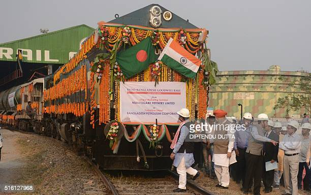 India's Petroleum and Natural Gas Minister Dharmendra Pradhanand Darjeeling constituency MP SS Ahluwaliaflag off the Goodwill rail rake consignment...