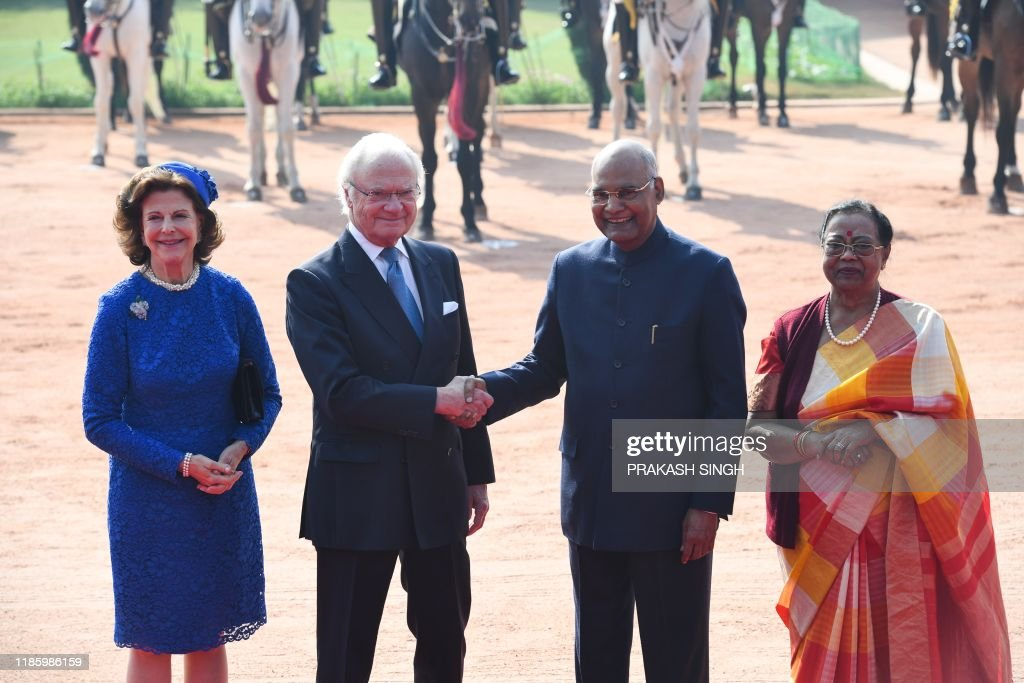 INDIA-SWEDEN-ROYALS-DIPLOMACY : News Photo