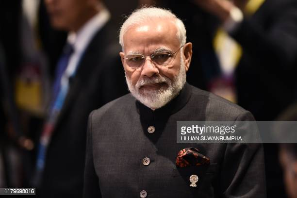 India's Prime Minister Narendra Modi attends the 16th ASEANIndia Summit in Bangkok on November 3 on the sidelines of the 35th Association of...