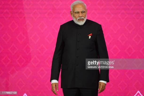 India's Prime Minister Narendra Modi attends the 3rd Regional Comprehensive Economic Partnership Summit in Bangkok on November 4 on the sidelines of...