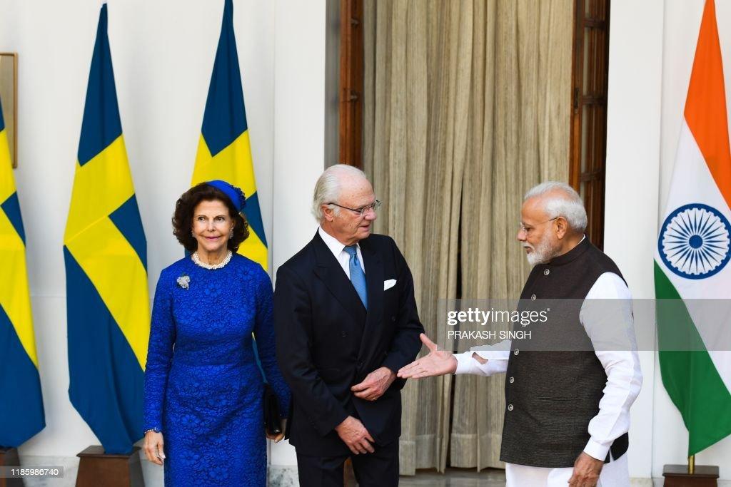 INDIA-SWEDEN-ROYALS-DIPLOMACY : News Photo