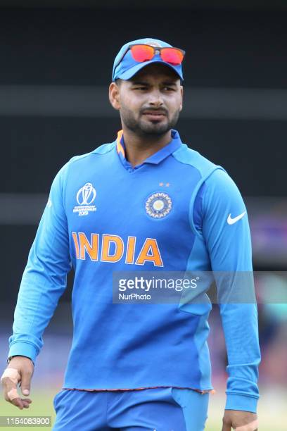 India's Rishabh Pant during the ICC Cricket World Cup 2019 match between India and Sri Lanka at Emerald Headingley, Leeds on Saturday 6th July 2019.