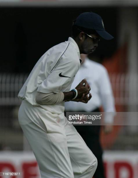India's S Sreesanth drops the catch of England's batsman Kevin Pieterson on the fourth day of the first cricket Test match between India and England...